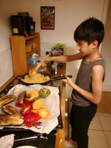 Nephew cooking