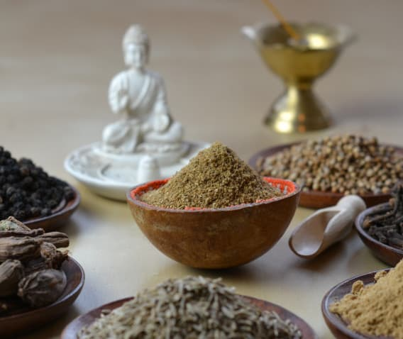 Gharam masala Spices with Buddha to connect food with spirituaiity